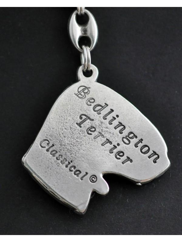 Bedlington Terrier - keyring (silver plate) - 76 - 436