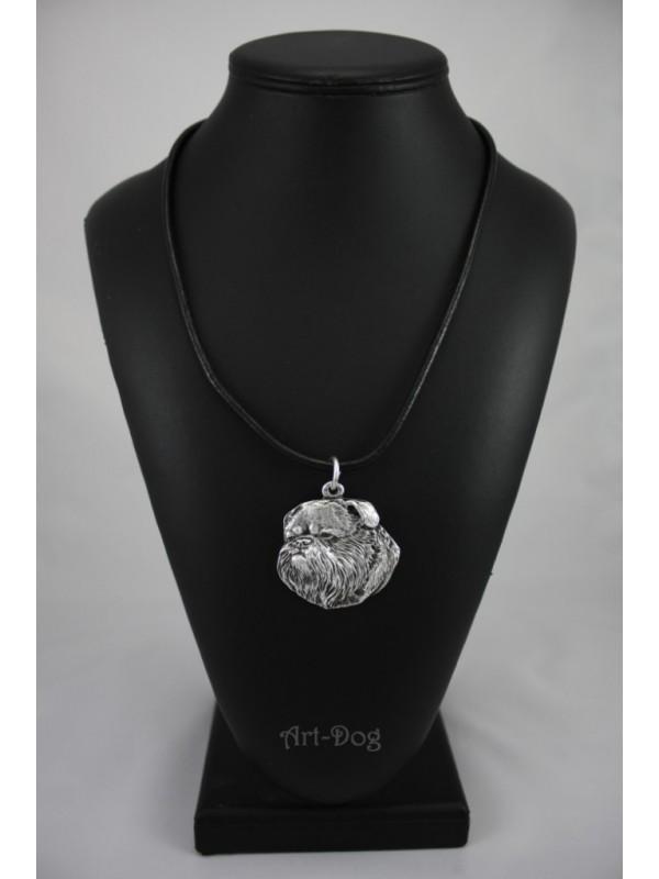 Belgium Griffon - necklace (silver plate) - 2933 - 30709