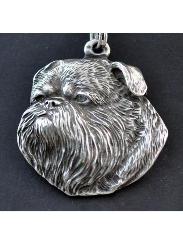 Belgium Griffon - necklace (silver plate) - 2933 - 30710