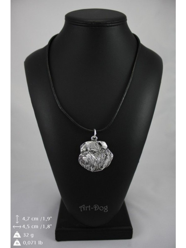 Belgium Griffon - necklace (silver plate) - 2933 - 30712
