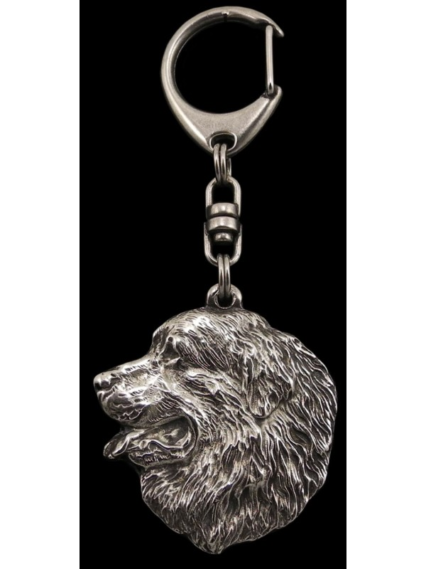 Bernese Mountain Dog - keyring (silver plate) - 31 - 203