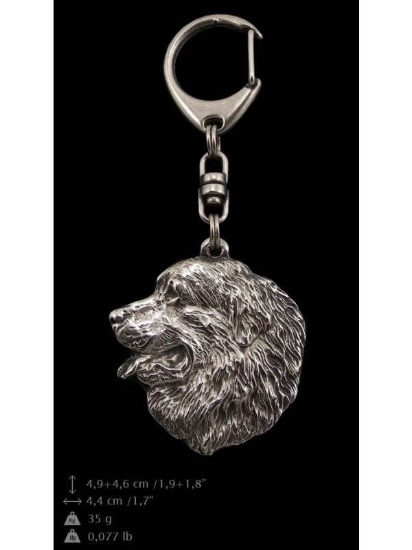 Bernese Mountain Dog - keyring (silver plate) - 31 - 9243