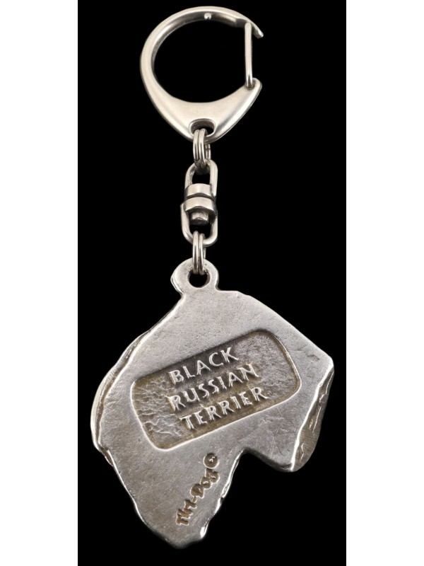 Black Russian Terrier - keyring (silver plate) - 90 - 503