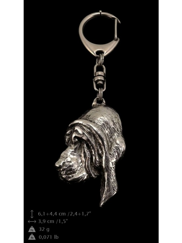 Bloodhound - keyring (silver plate) - 80 - 9343