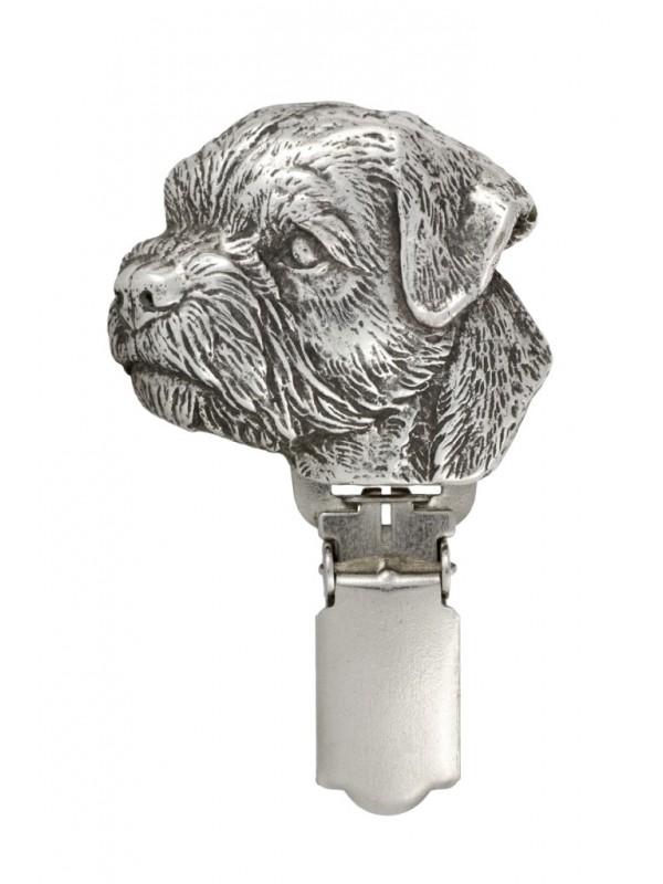 Border Terrier - clip (silver plate) - 264 - 26295