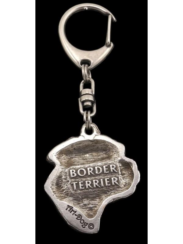 Border Terrier - keyring (silver plate) - 103 - 559