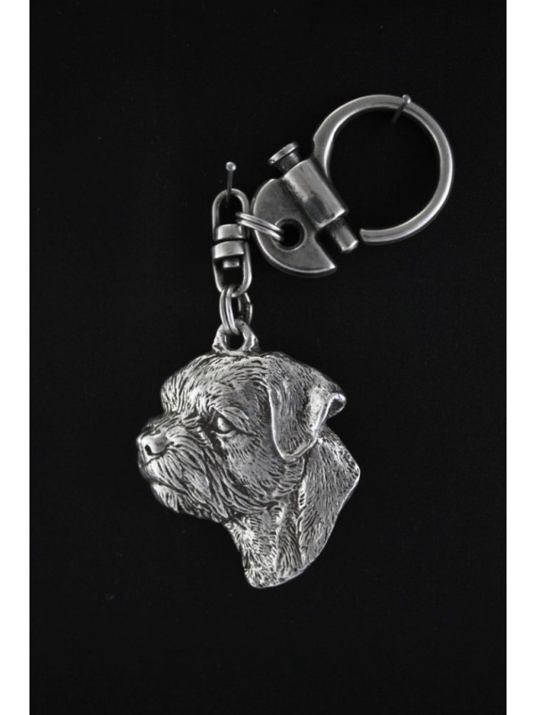 Border Terrier - keyring (silver plate) - 103 - 560