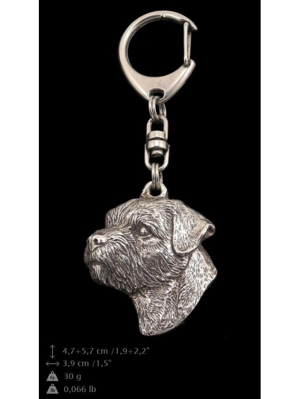 Border Terrier - keyring (silver plate) - 103 - 9376