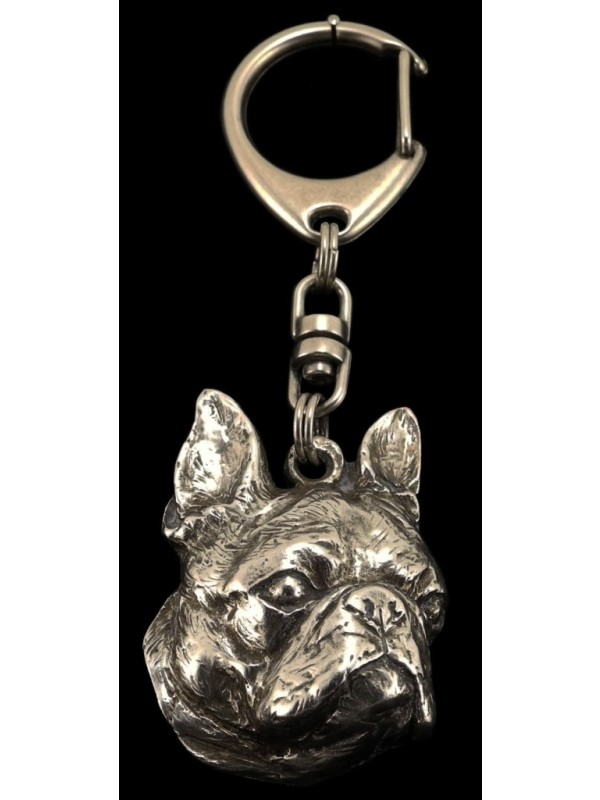 Boston Terrier - keyring (silver plate) - 54 - 330