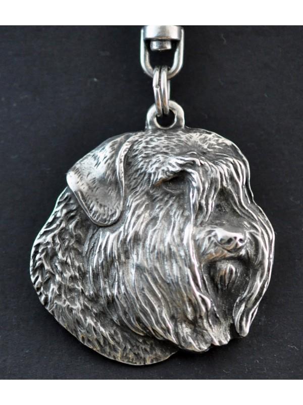 Bouvier des Flandres - keyring (silver plate) - 28 - 186