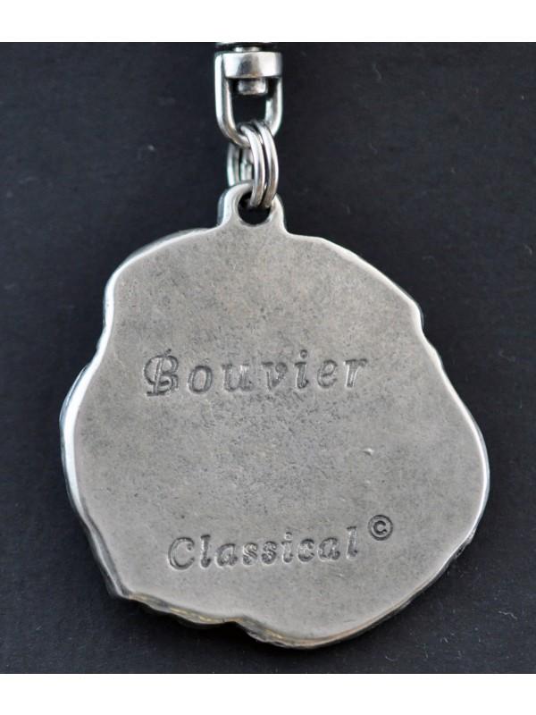 Bouvier des Flandres - keyring (silver plate) - 28 - 187