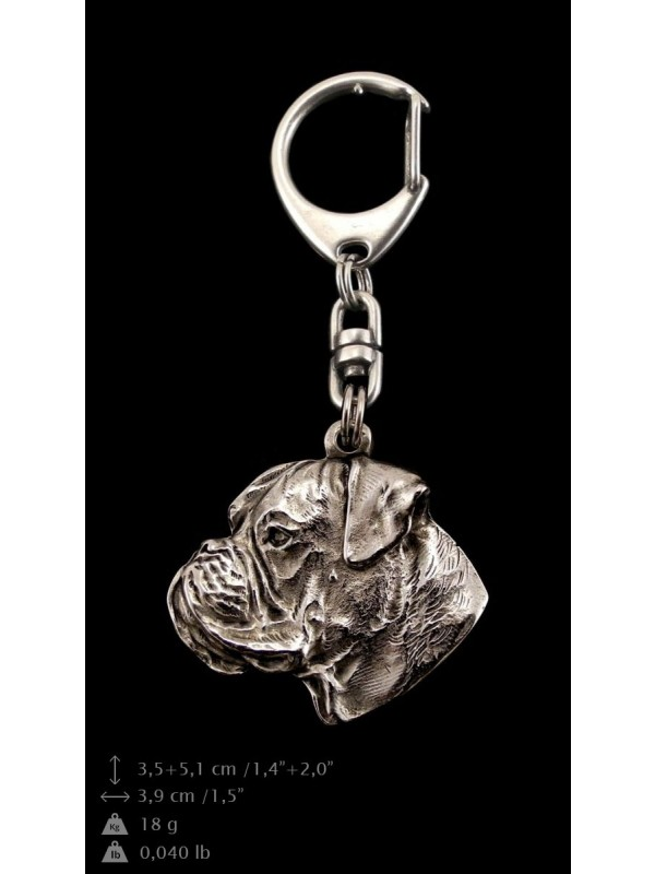 Boxer - keyring (silver plate) - 49 - 9289