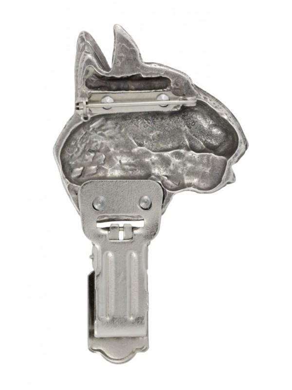 Bull Terrier - clip (silver plate) - 255 - 26266