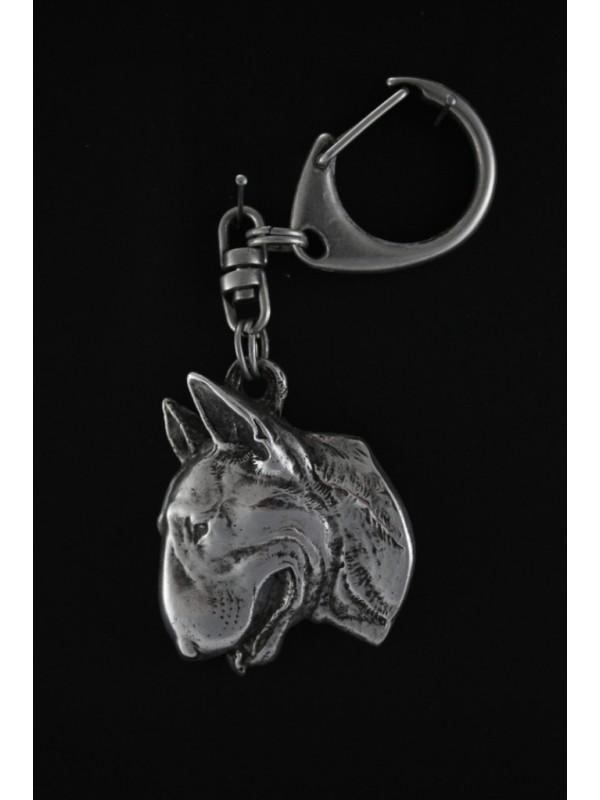 Bull Terrier - keyring (silver plate) - 60 - 358