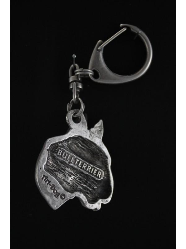 Bull Terrier - keyring (silver plate) - 60 - 359