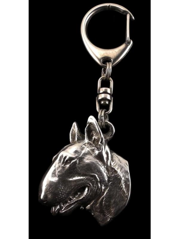 Bull Terrier - keyring (silver plate) - 60 - 360