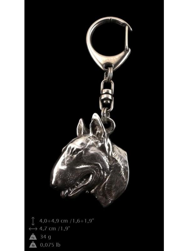 Bull Terrier - keyring (silver plate) - 60 - 9305