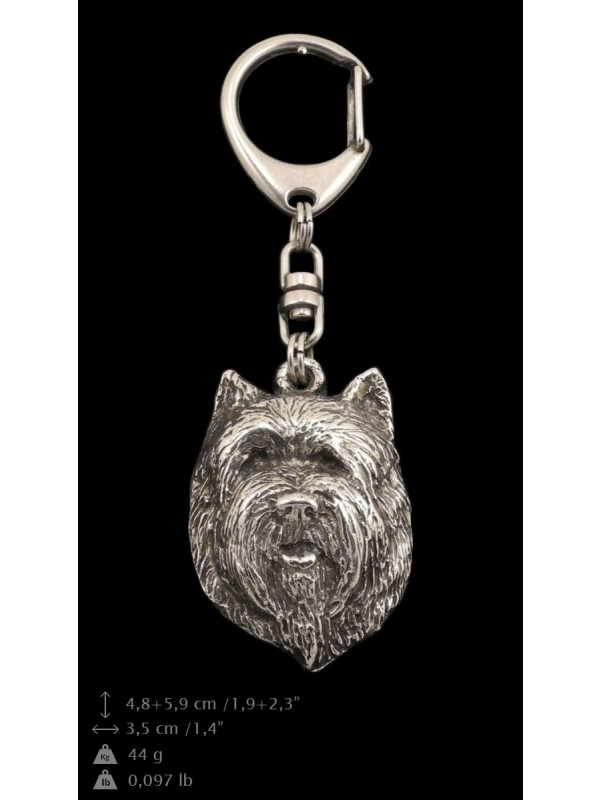 Cairn Terrier - keyring (silver plate) - 118 - 9392