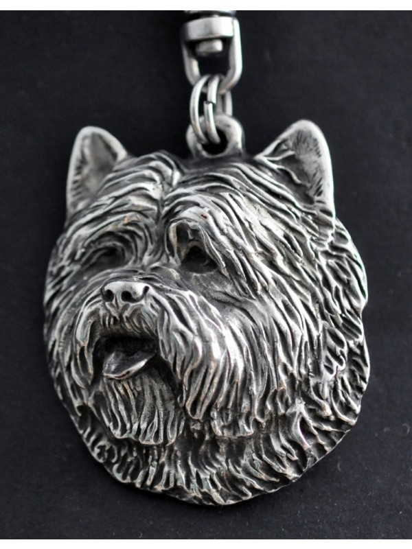 Cairn Terrier - keyring (silver plate) - 75 - 431