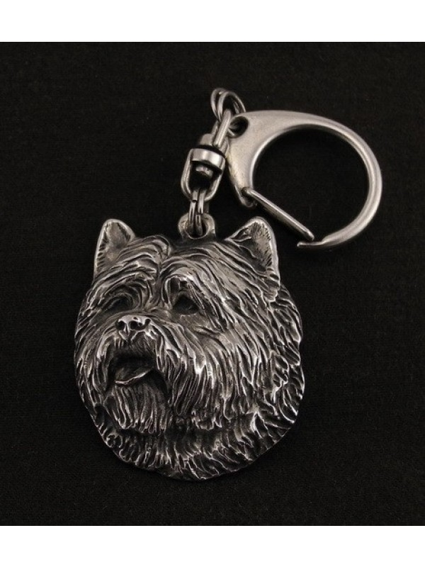 Cairn Terrier - keyring (silver plate) - 75 - 9336