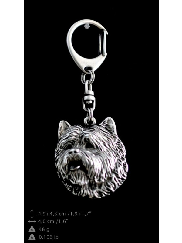 Cairn Terrier - keyring (silver plate) - 75 - 9338