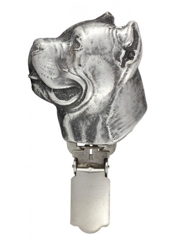 Cane Corso - clip (silver plate) - 289 - 26369