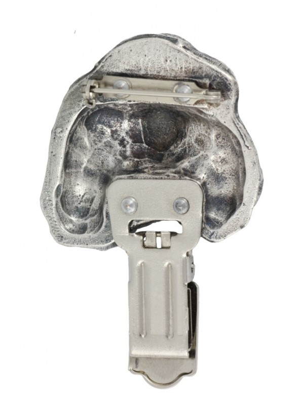 Cavalier King Charles Spaniel - clip (silver plate) - 287 - 26362
