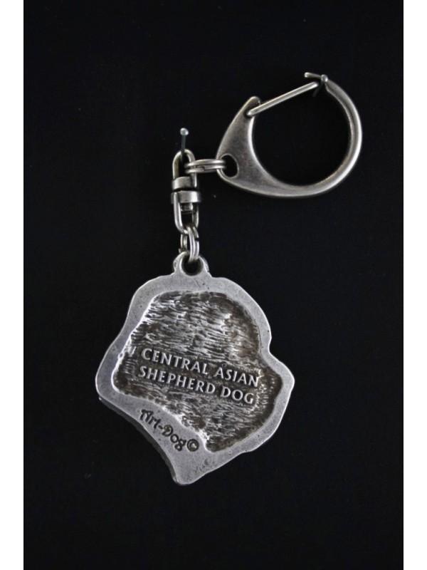 Central Asian Shepherd Dog - keyring (silver plate) - 97 - 533