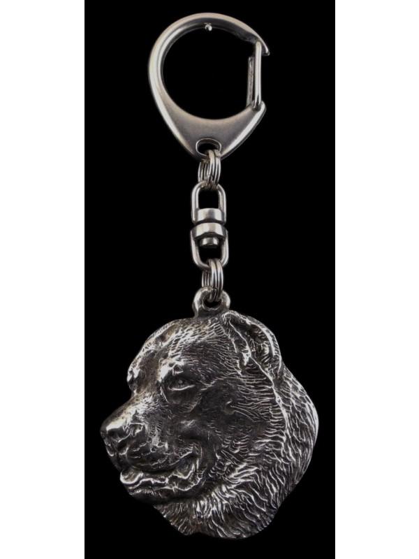 Central Asian Shepherd Dog - keyring (silver plate) - 97 - 534