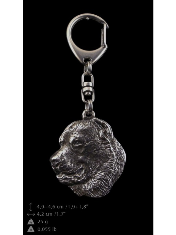 Central Asian Shepherd Dog - keyring (silver plate) - 97 - 9366
