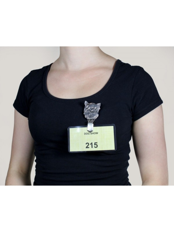 Chihuahua - clip (silver plate) - 243 - 8587