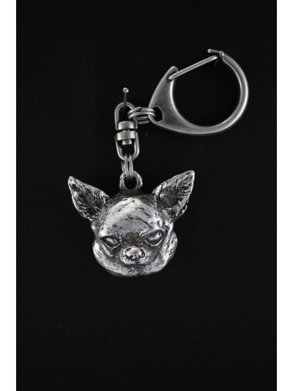 Chihuahua - keyring (silver plate) - 102 - 555