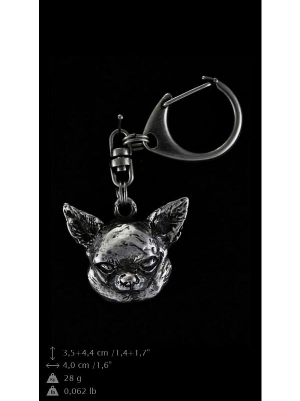 Chihuahua - keyring (silver plate) - 102 - 9375