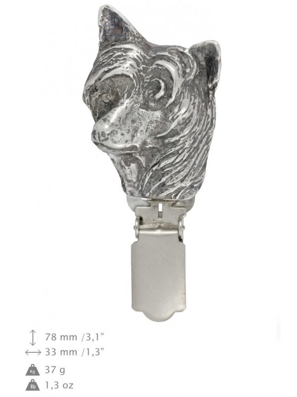 Chinese Crested - clip (silver plate) - 251 - 26232