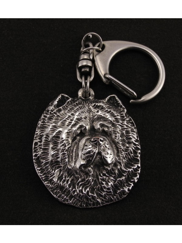Chow Chow - keyring (silver plate) - 24 - 166