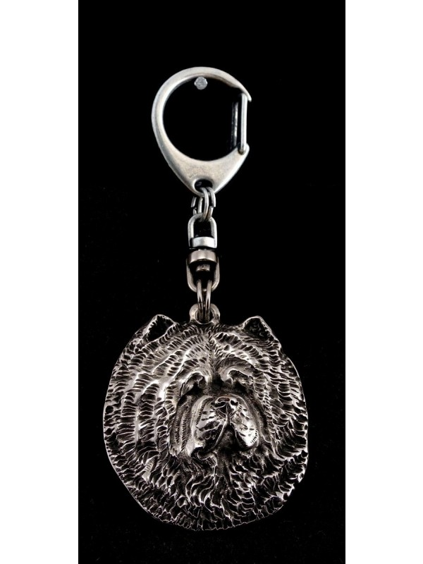 Chow Chow - keyring (silver plate) - 24 - 9228