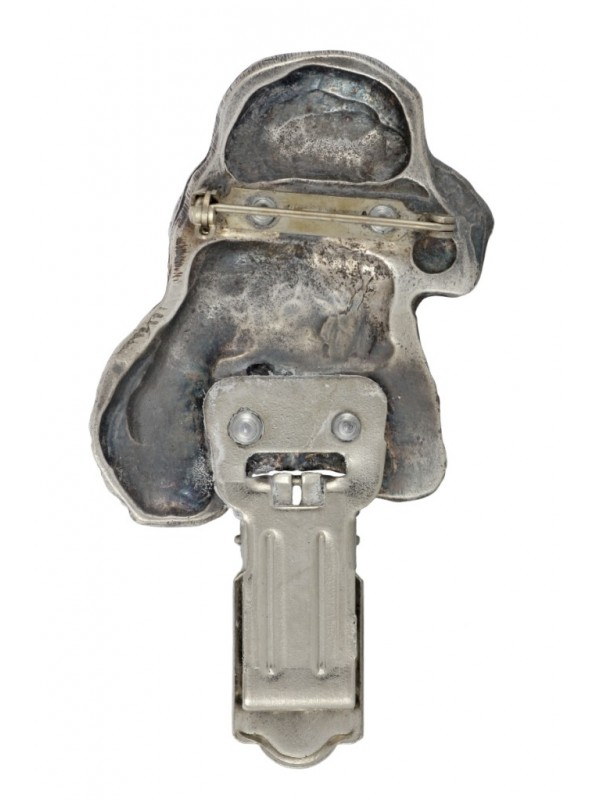 Clumber Spaniel - clip (silver plate) - 290 - 26377