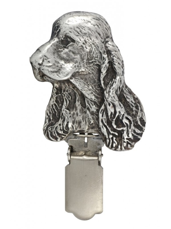 Clumber Spaniel - clip (silver plate) - 290 - 26383