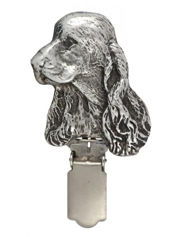 Clumber Spaniel - clip (silver plate) - 290 - 26383
