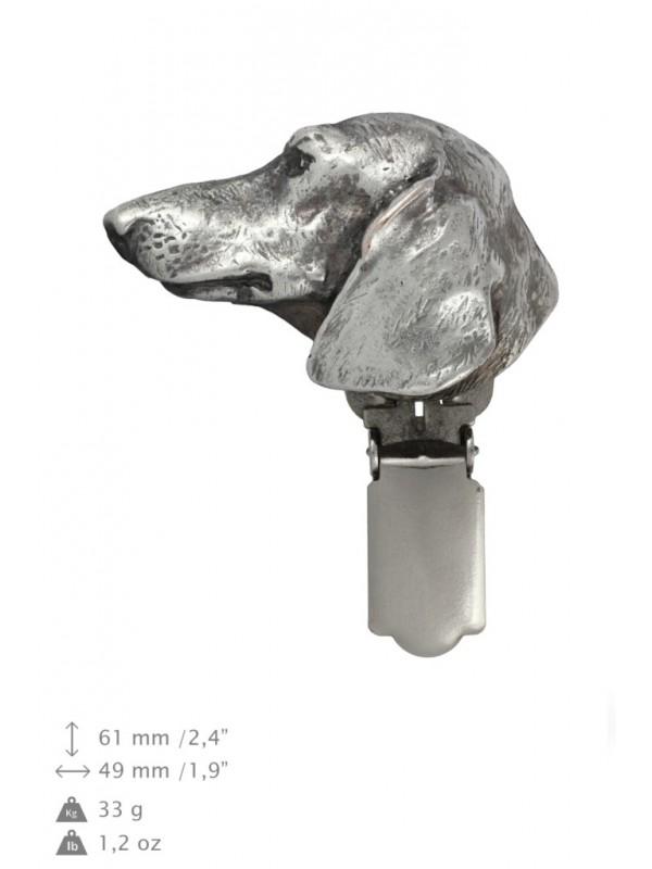 Dachshund - clip (silver plate) - 281 - 26344