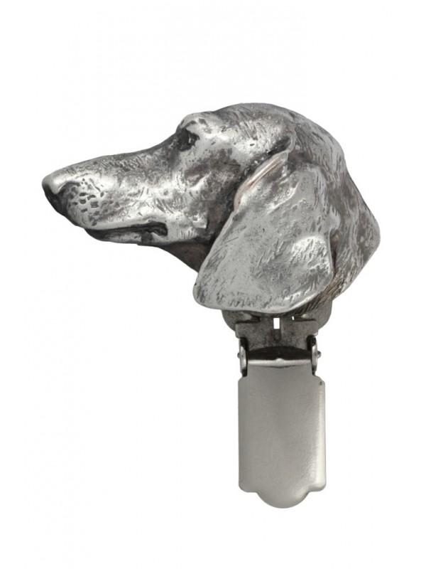 Dachshund - clip (silver plate) - 281 - 26345