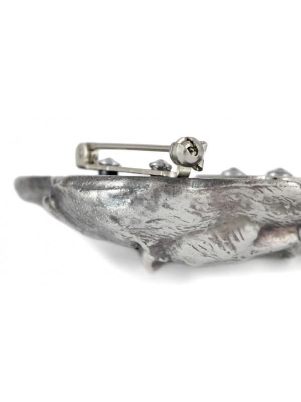 Dachshund - clip (silver plate) - 281 - 26350