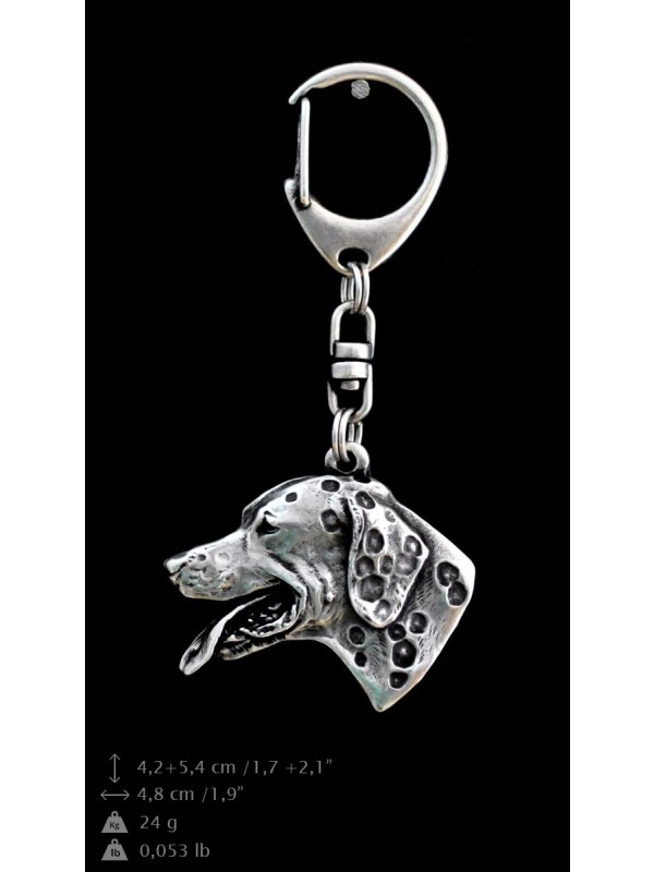 Dalmatian - keyring (silver plate) - 21 - 9222