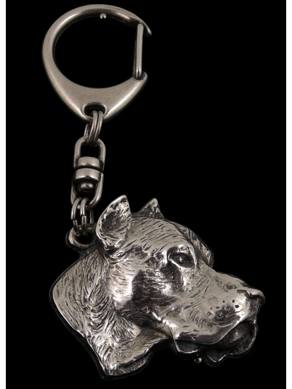 Dogo Argentino - keyring (silver plate) - 30 - 195