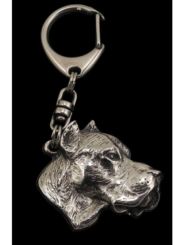 Dogo Argentino - keyring (silver plate) - 30 - 198