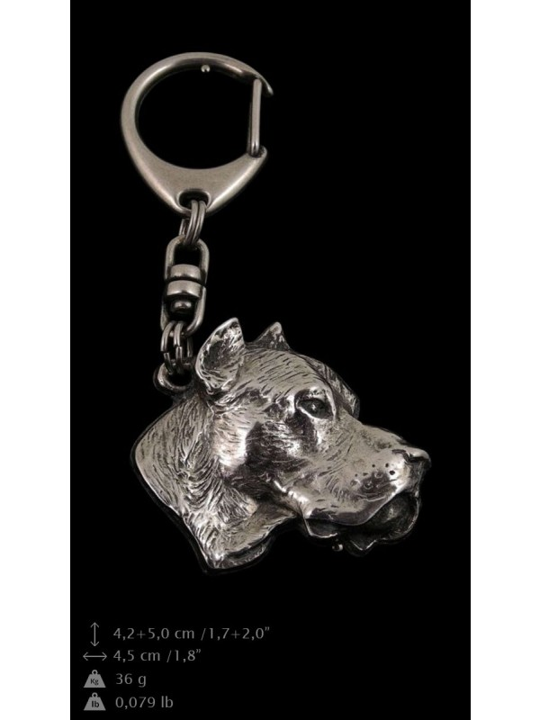 Dogo Argentino - keyring (silver plate) - 30 - 9242
