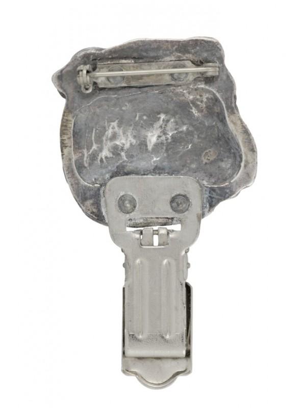English Bulldog - clip (silver plate) - 283 - 26353