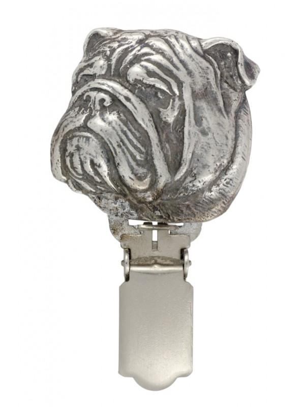 English Bulldog - clip (silver plate) - 283 - 26359