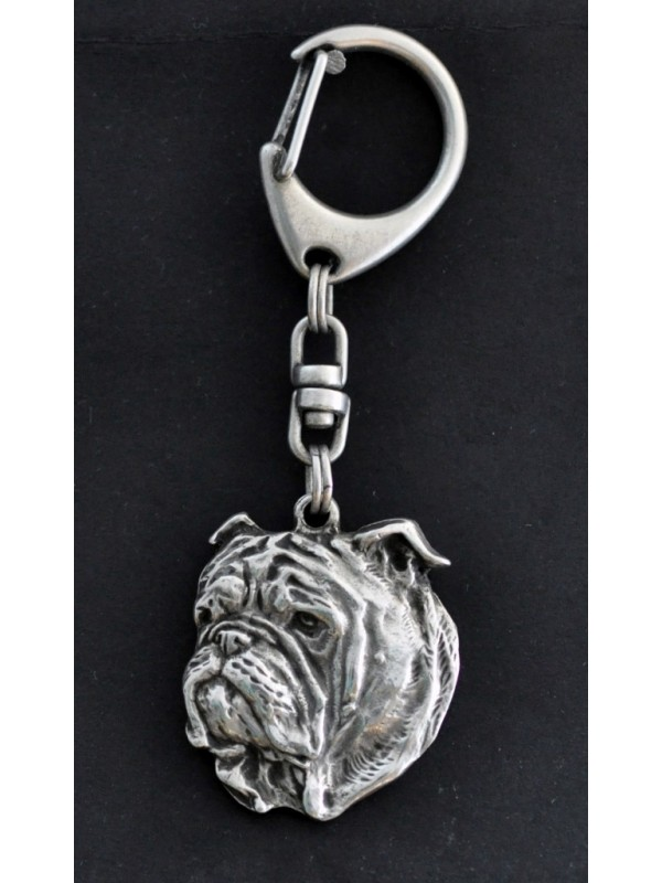 English Bulldog - keyring (silver plate) - 11 - 106