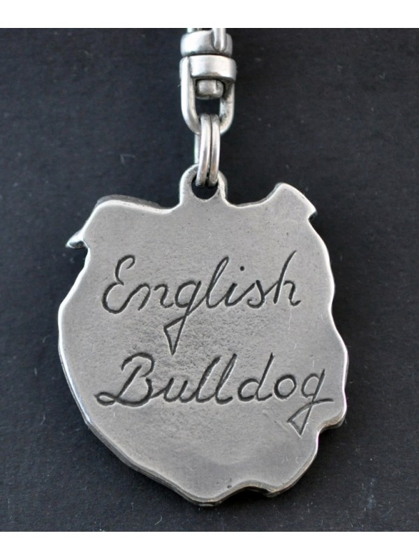 English Bulldog - keyring (silver plate) - 11 - 108